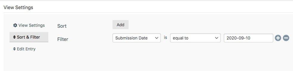 wpforms filter by custom date