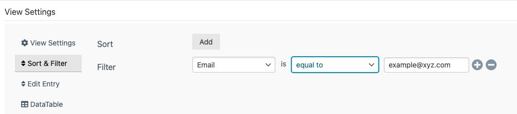 filter wpforms entries by field value