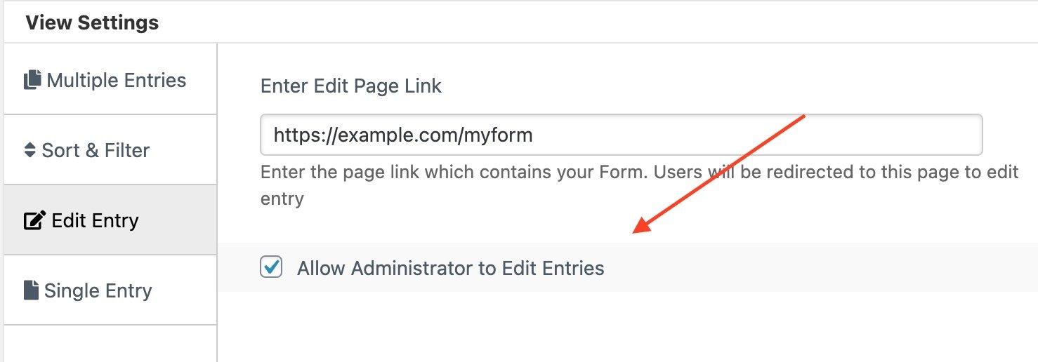 admin edit wpforms entries