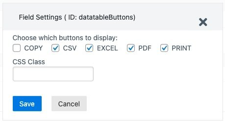 wpforms datateble buttons settings