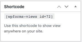 wpforms view shortcode