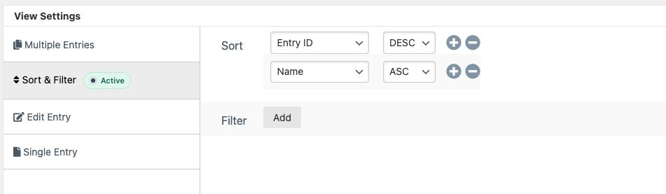 sort entries by values