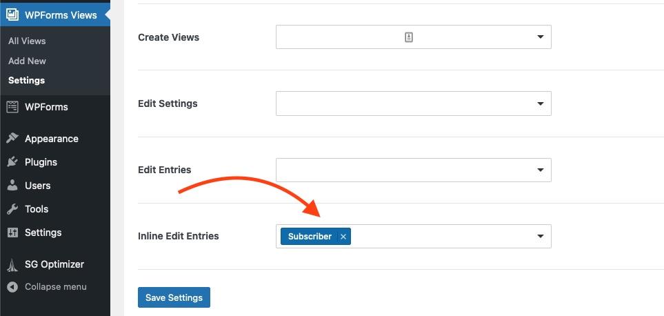 inline edit access permission